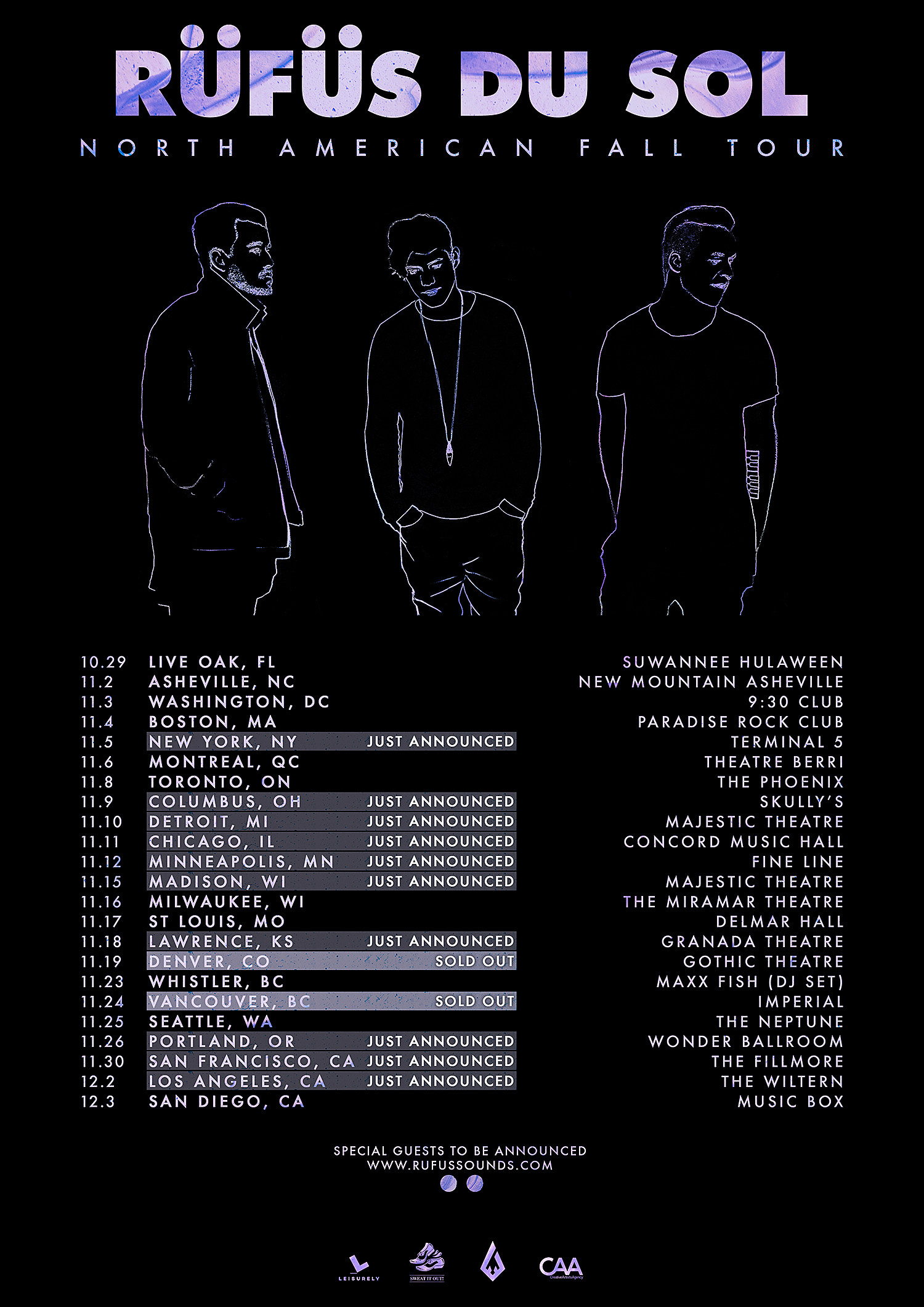 Rufus Du Sol - Phase 2 North American Dates