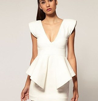 structured mini dress