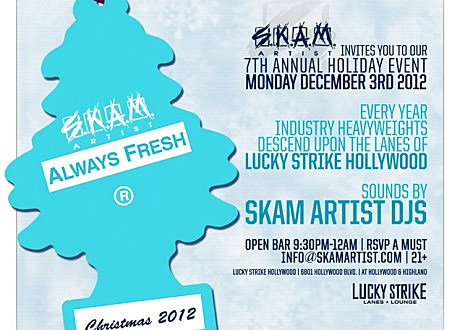 Skam Artist Holiday Party