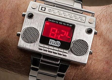 boombox metal wristwatch