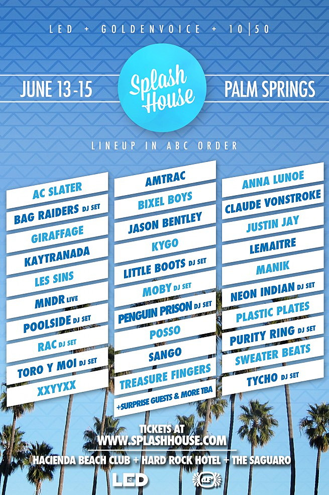 Splash House Flyer