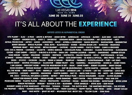 EDC Las Vegas lineup