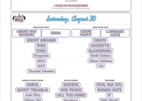 Electric Zoo Phase 2 Lineup