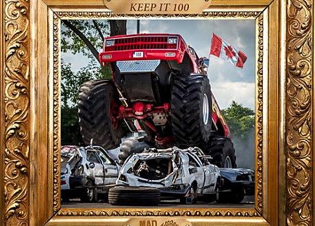 "Grandtheft & Keys N Krates ""Keep It 100"" artwork"