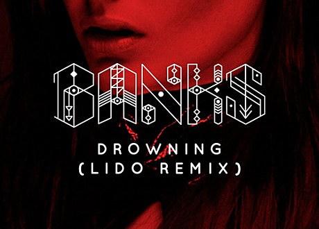 """Banks """"Drowning"""" Lido Remix album artwork"""
