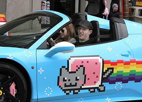 deadmau5 in his Purrari