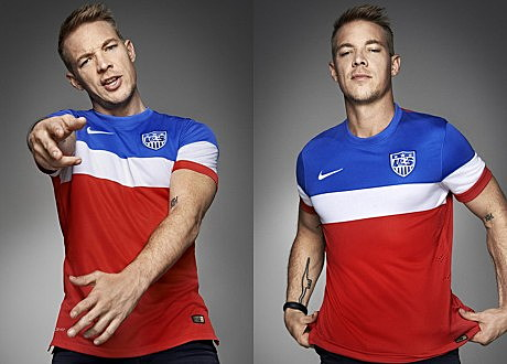 Diplo in US Soccer Jersey