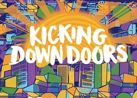 "Santigold & YOGI ""Kicking Doors Down"" album artwork"