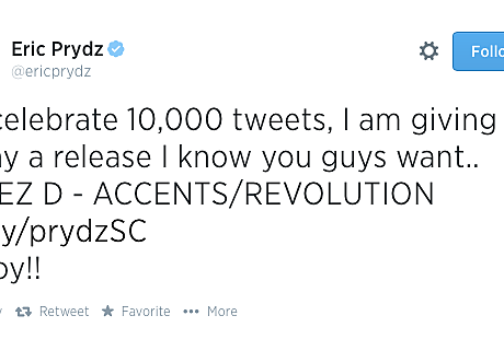 Eric Prydz 10,000th Tweet