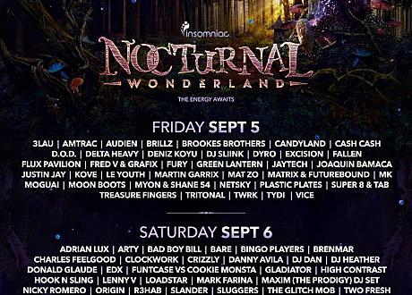 Nocturnal Wonderland 2014 lineup
