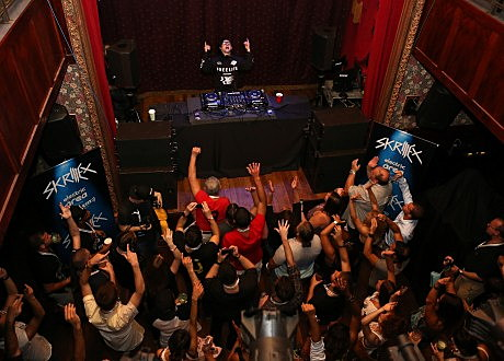 Skrillex Performs Private Concert For SiriusXM Listeners At The Slipper Room In New York City; Performance Airing Live On SiriusXM's Electric Area Channel